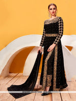AC69158A - Black Color Georgette Anarkali Suit