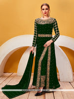 AC69158C - Green Color Georgette Anarkali Suit