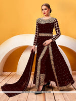 AC69158D - Maroon Color Georgette Anarkali Suit