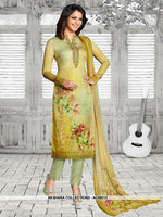 AC69213 - Light Green Color Soft Cotton Salwar Kameez