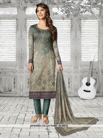 AC69216 - Grey Color Soft Cotton Salwar Kameez