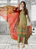 AC69217 - Green Color Soft Cotton Salwar Kameez