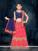 AC69671A - Navy Blue Color Silk Lehenga Choli