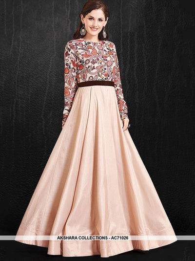 AC71026 - Misty Rose Color Pure Soft Maslin Gown