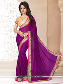 AC71761A - Orange Color Georgette Saree