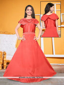 AC72237D - Red Color Satin Tafeta Silk Gown