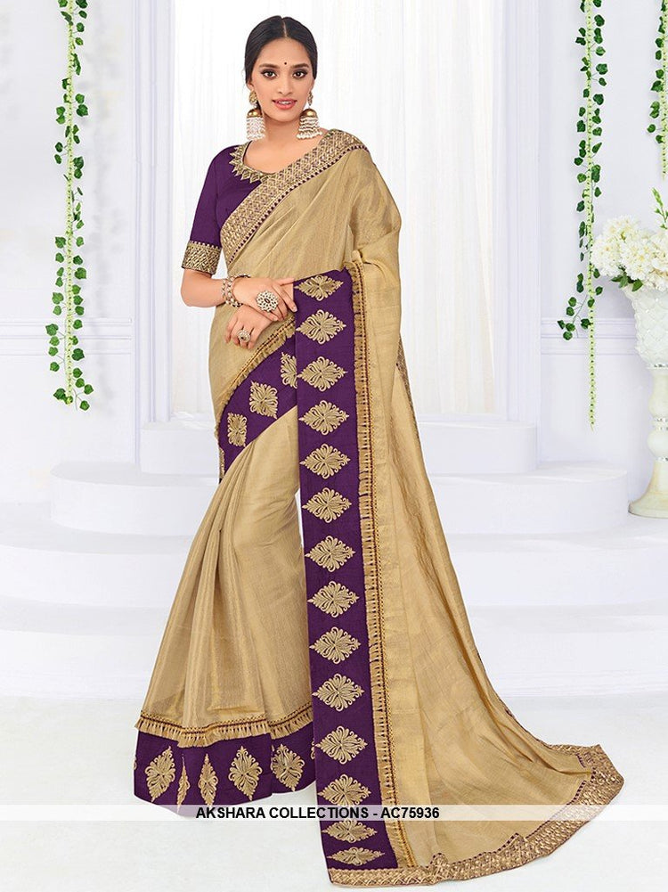 AC75936 - Beige Color Banarasi Art Silk Saree