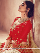 AC77332 - Red Color Art Silk Lehenga Choli