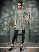 AC77775 - Grey Color Rayon Cotton Readymade Top