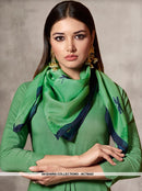 AC78443 - Green Color Rayon Cotton and Soft Cotton Readymade Kurti With Palazzo & Scarf