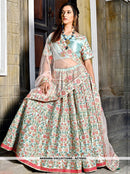 AC79202 - Light Sky Blue Color Malai Satin Lehenga Choli