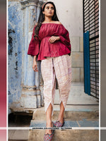 AC79588A - Dark Pink Color Khadi Readymade Western Wear