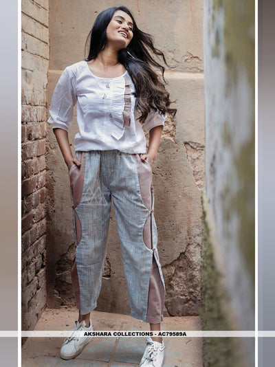 AC79589A - Off White Color Khadi Readymade Western Wear