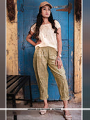 AC79590A - Cream Color Khadi Readymade Western Wear