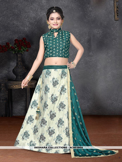 AC80386B - Beige Color Banarasi Silk Readymade Lehenga Choli