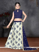 AC80386C - Cream Color Banarasi Silk Readymade Lehenga Choli