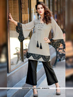 AC80427A - Light Grey Color Pure Heavy Georgette Readymade Western Wear