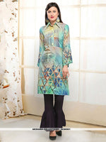 AC80501 - Light Aqua Color Rayon Readymade Western Wear