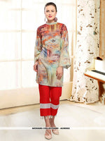 AC80502 - Multi Color Color Rayon Readymade Western Wear