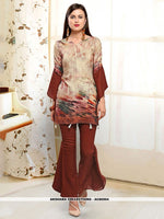 AC80504 - Beige Color Rayon Readymade Western Wear