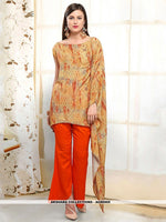 AC80505 - Light Orange Color Rayon Readymade Western Wear