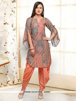 AC80507 - Grey and Peach Color Rayon Readymade Western Wear