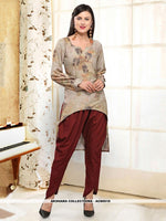 AC80510 - Tan Color Rayon Readymade Western Wear