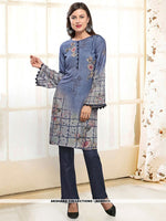 AC80511 - Grey and Blue Color Rayon Readymade Western Wear