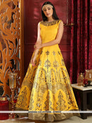 AC80932 - Yellow Color Silk Readymade Gown