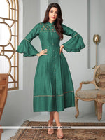 AC81079C - Light Sea Green Color Ira Magic Cotton Readymade Kurti