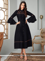 AC81079D - Black Color Ira Magic Cotton Readymade Kurti