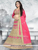 AC81364D - Orange Color Net Lehenga Choli