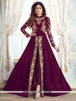 AC81366B - Purple Color Georgette Anarkali Suit