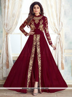AC81366C - Maroon Color Georgette Anarkali Suit