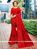 AC81371 - Red Color Georgette Saree