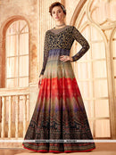 AC81381 - Multi Color Color Super Thin Velvet Anarkali Suit