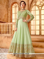 AC81382 - Pista Green Color Georgette Anarkali Suit