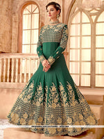 AC81384 - Sea Green Color Makhmali Bember Anarkali Suit