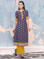 AC81448 - Rama Green Color Heavy Rayon Readymade Kurti