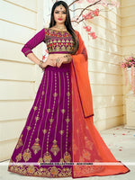 AC81534MG - Magenta Color Tafeta Silk Lehenga Choli