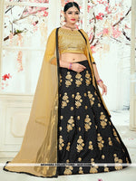 AC81535BL - Black Color Tafeta Silk Lehenga Choli