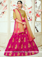 AC81535PI - Pink Color Tafeta Silk Lehenga Choli