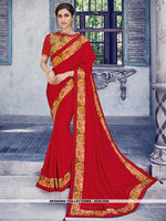 AC81550 - Red Color Satin Silk Saree