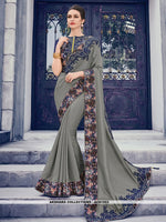 AC81553 - Grey Color Silk Saree