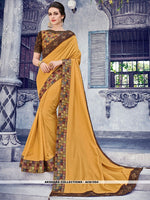 AC81554 - Musturd Yellow Color Silk Saree