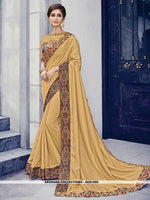 AC81555 - Gold Color Silk Saree