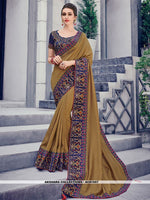 AC81557 - Brown Color Two Tone Silk Saree