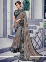 AC81558 - Grey Color Two Tone Silk Saree