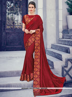 AC81559 - Maroon Color Two Tone Silk Saree