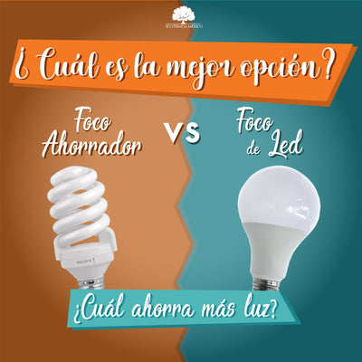 Foco ahorrador vs. Foco de led